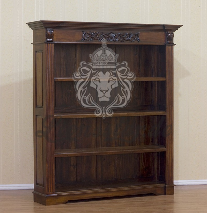 kolonialstil b cherregal ornament lionsstar gmbh. Black Bedroom Furniture Sets. Home Design Ideas