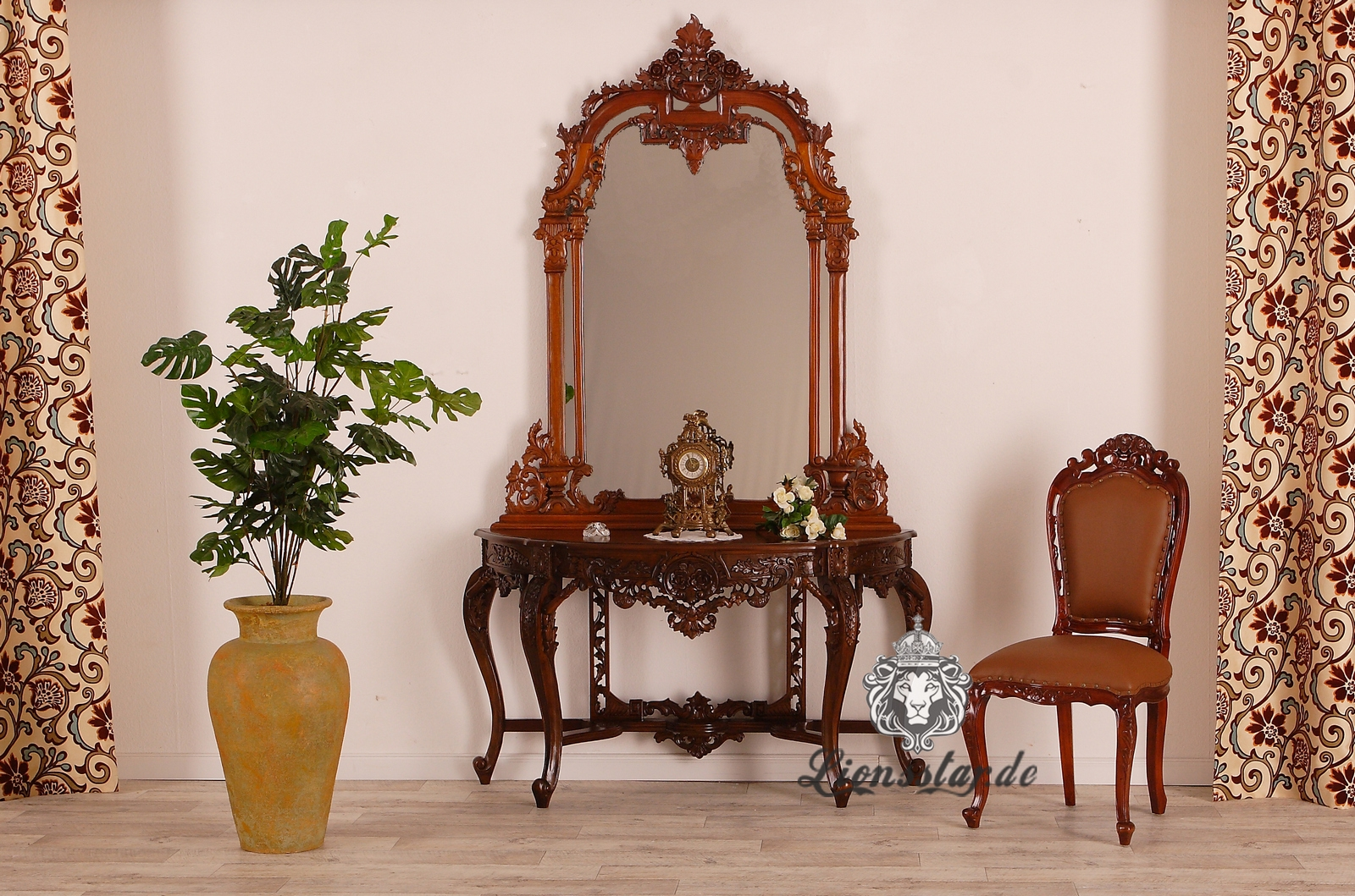 Spiegelkommode Mahagoni Barock