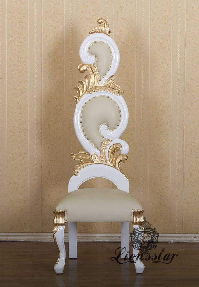 Luxus Stuhl Barock Weiß