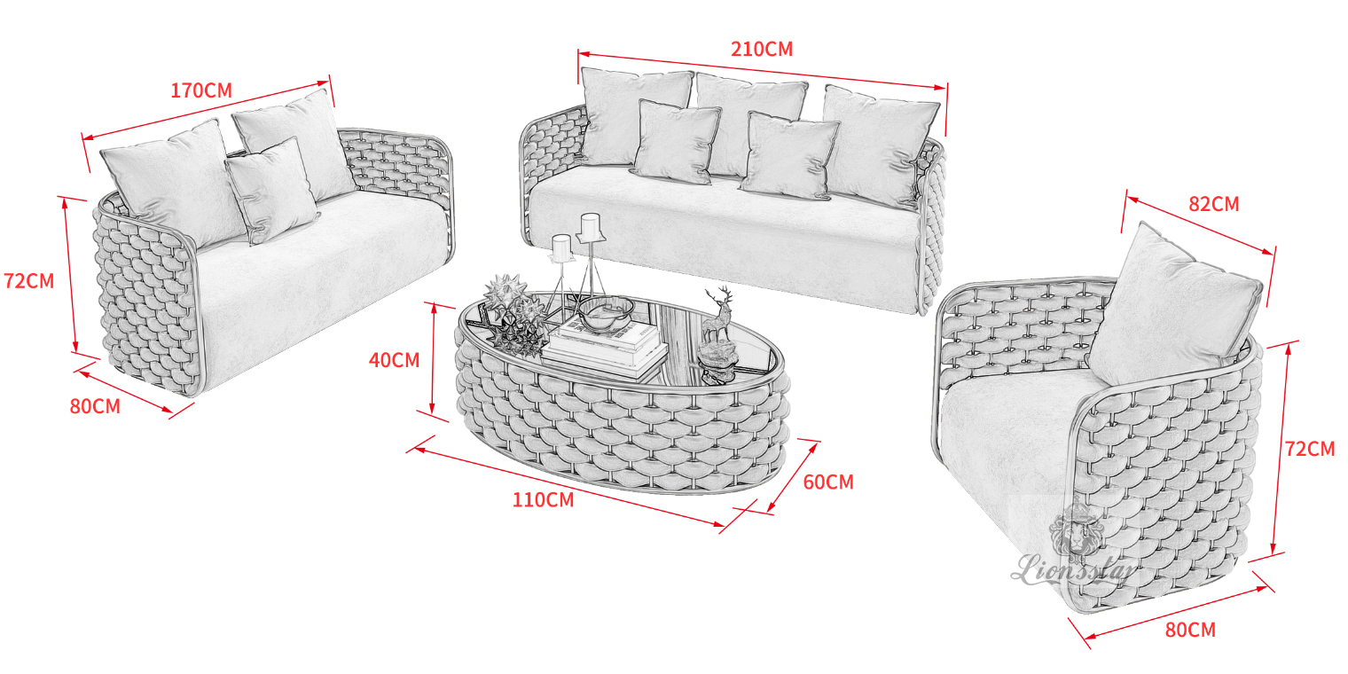 Edel Design Sofa-Set Loft Bubbles