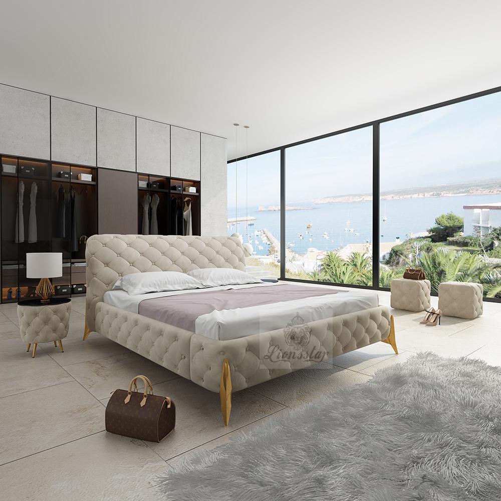 Luxus Designer Bett Muted Color