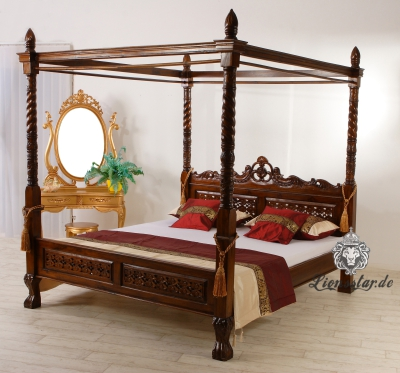 himmelbett teakholz lionsstar gmbh. Black Bedroom Furniture Sets. Home Design Ideas