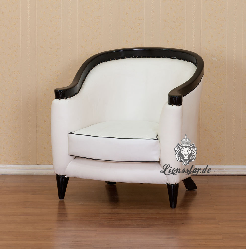 Sessel Kunstleder Weiß