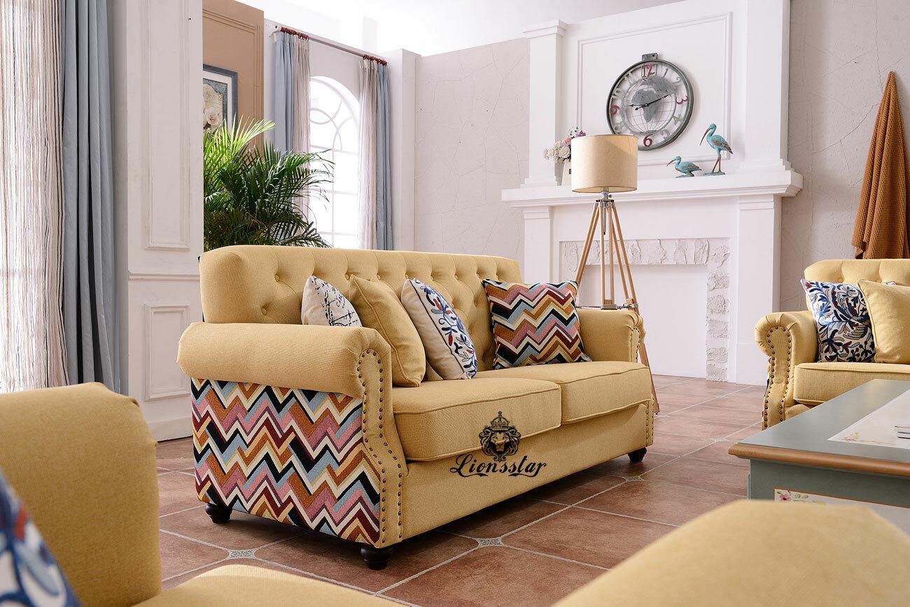 Designer Sofa Set Mexico Hell Gelb