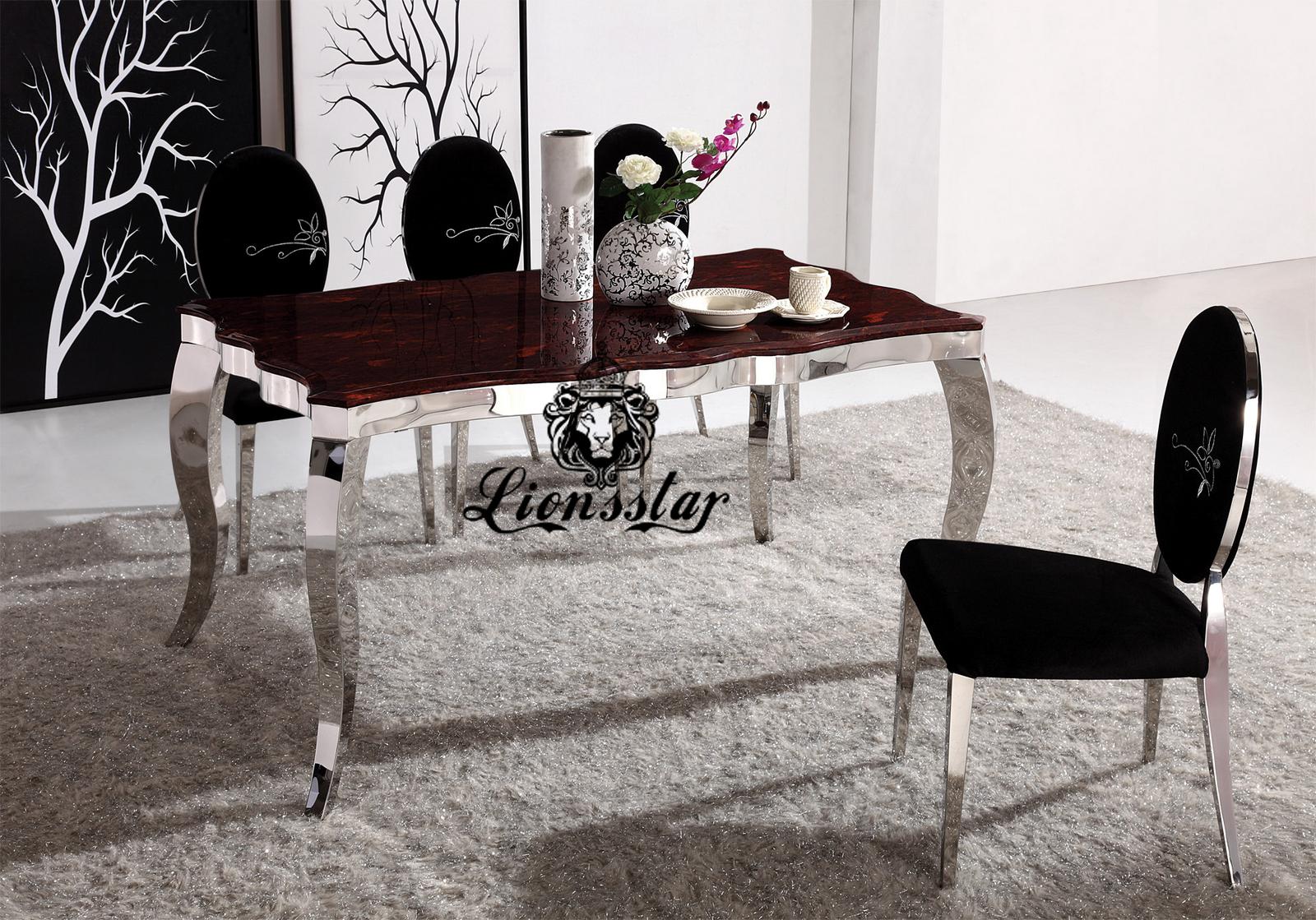 Silber Esstisch Set