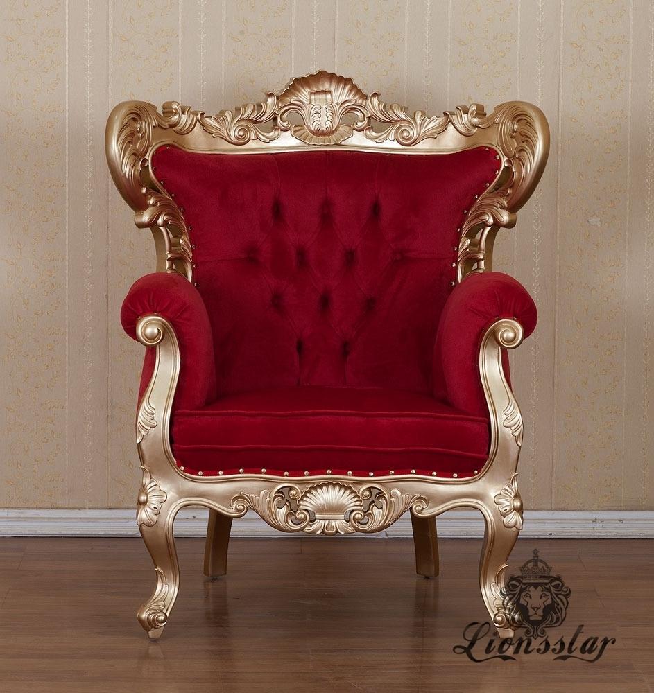 Thronstuhl Rot Gold