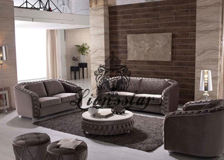 Wohnzimmer Sofa Grau