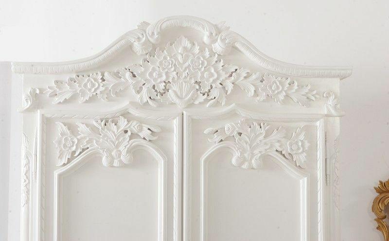 Kleiderschrank Rococo Weiß