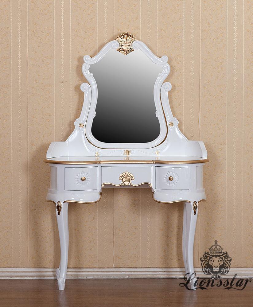 Spiegelkommode Barock Mahagoni Holz Sk.295