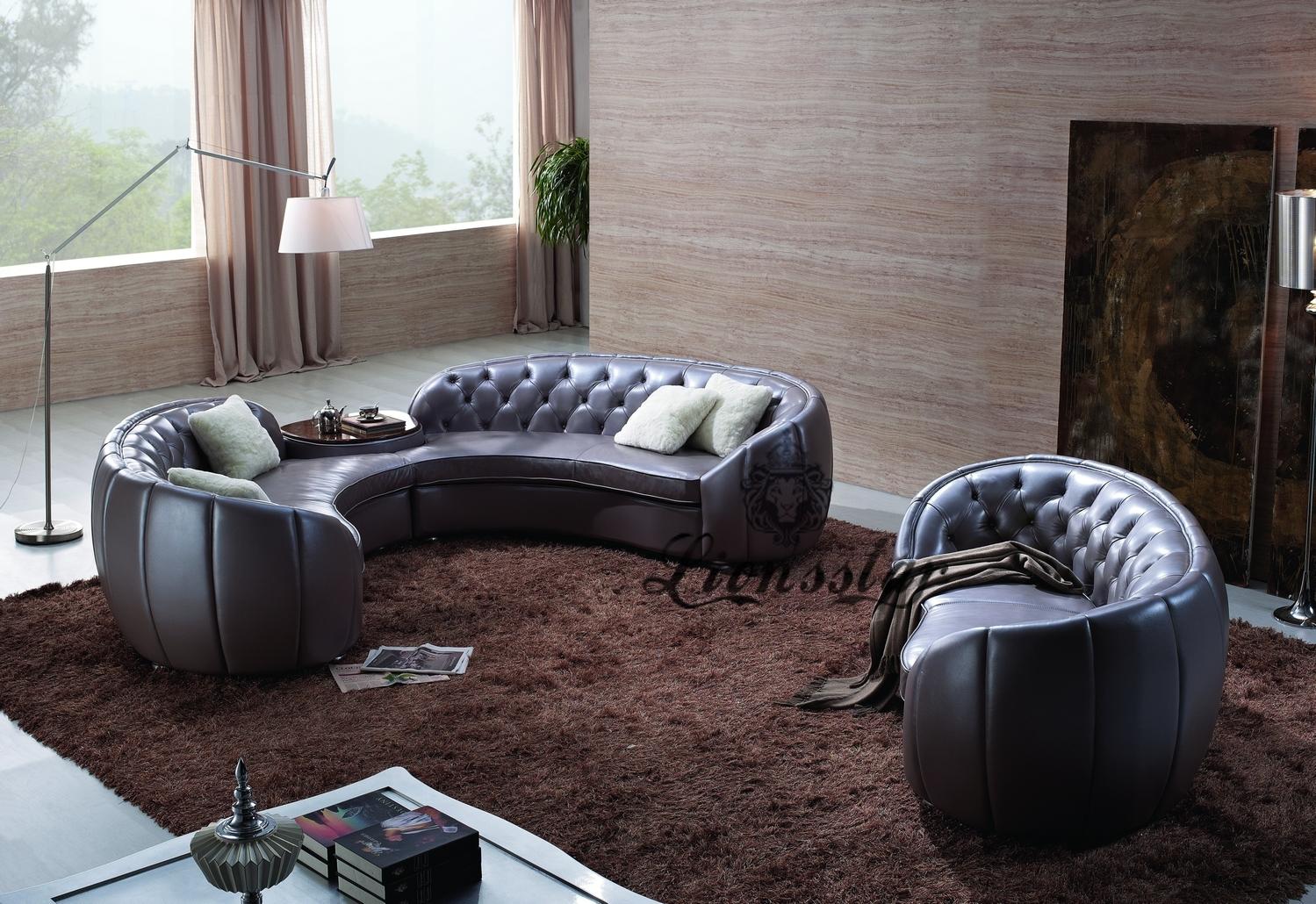 Couchgarnitur Sofaset Rund