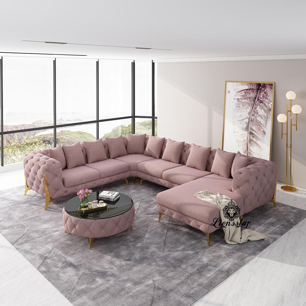 Designer Luxus Wohnlandschaft Clouds High Leg U Form