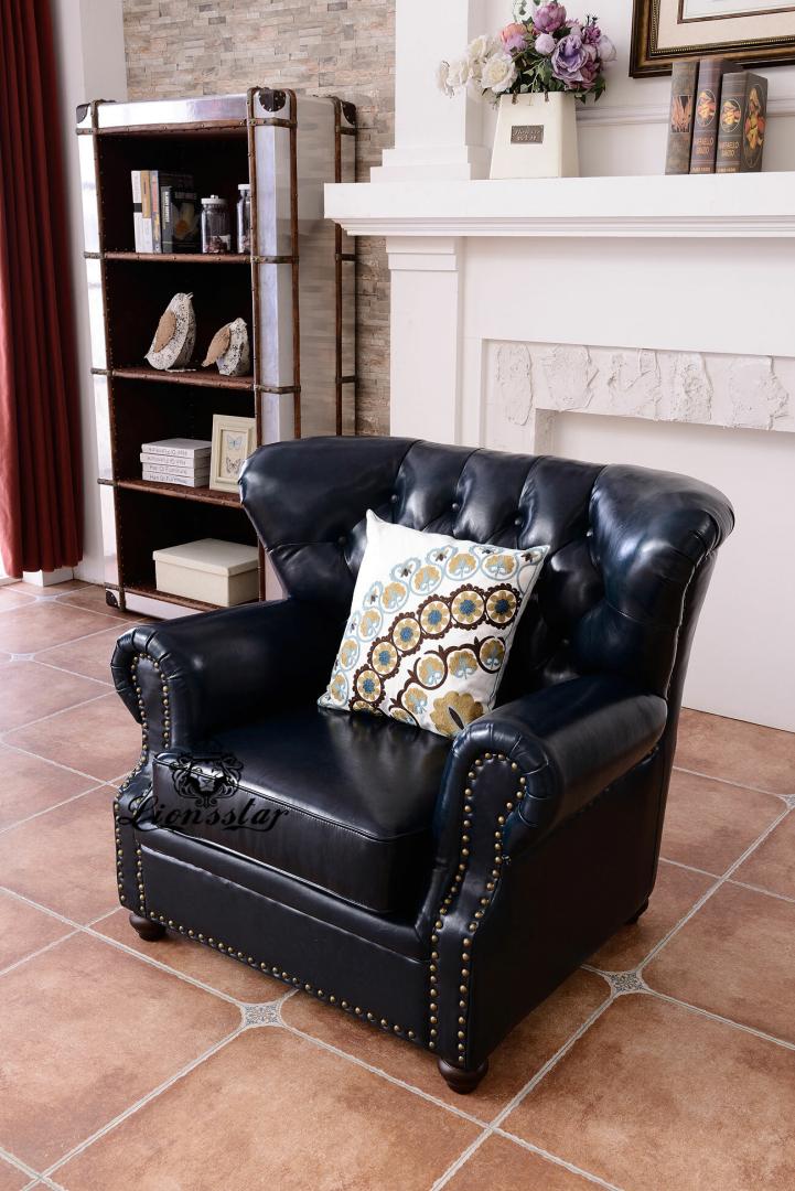Edel Luxus Sofa Set Old Fashion schwarz