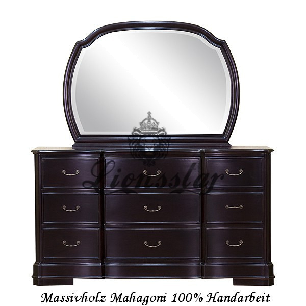 Spiegelkommode Barock Mahagoni Holz Sk.138