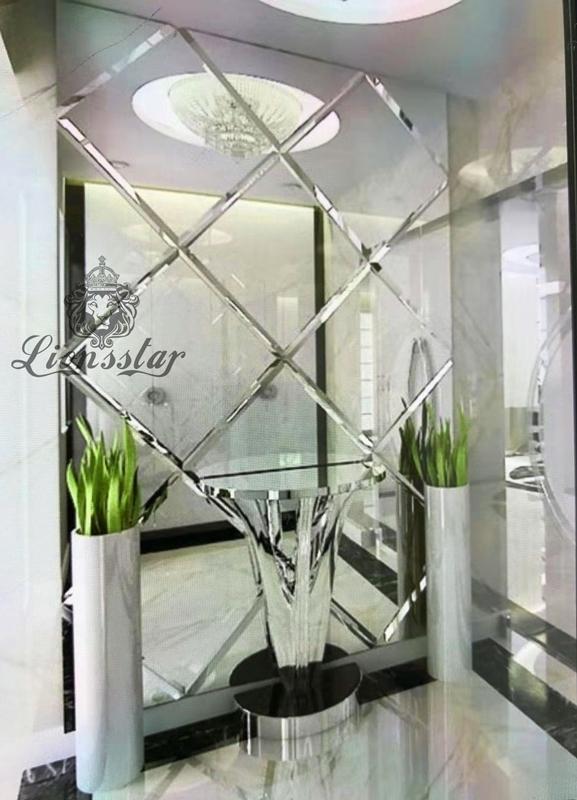 Designer Spiegelfliesen facettiert Wandfliesen 2,94 qm Facette Glasfliesen