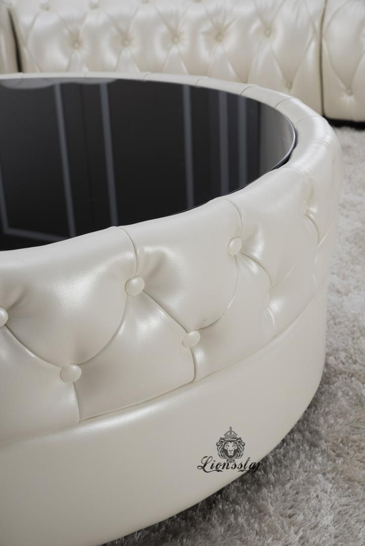 Couchgarnitur Weiß Rund