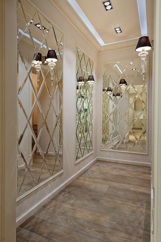 Designer Spiegelfliesen facettierte Wandfliesen 2,4 qm